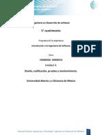 U3 Diseno Codificacion Pruebas y Mantenimiento