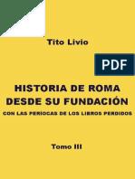 Tito Livio III Historia de Roma