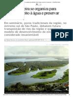 Vale Do Ribeira Se Organiza Para Defender Direito à Água e Preservar Mananciais — Rede Brasil Atual