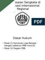 Penyelesaian Sengketa Di Organisasi Internasional Regional