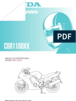 manual do propietrio cbr 1100xx 96-99