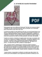 Dolor de Ovarios, La Herida de Nuestra Feminidad