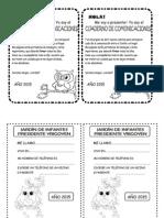 Hoja Cuaderno de comunicaciones Sala 4 2015