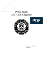 Office Self-Audit Checklist Mar 05