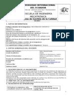 Syllabus Matemática Aplicada IV