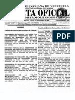 Gaceta Oficial Del Distrito Metropolitano Nº 0057