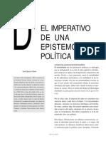El Imperativo de Una Epistemologia Politica0