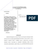 David Chase files Federal Lawsuit Against Metro PD