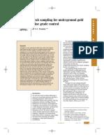 Underground Gold Mine Grade Control