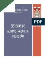 Aula 01 - EPR317 - Sistemas de Adm Da Produção