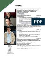 Kevin Melendez - Experiential Marketing Résumé.