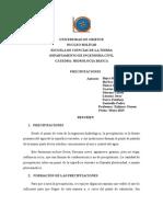 Resumen de Precipitaciones-Grupo N°3