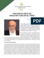 50 Añops de Arquitectura en El Peru Adolfo Córdova Valdivia