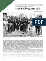 Solo en España Hubo Guerra Civil