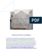 Historical Notes on Religion