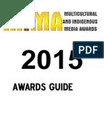 2015 Multicultural Indigenous Media Awards -Awards Guide