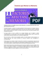 11 Increíbles Factores Que Afectan Su Memoria