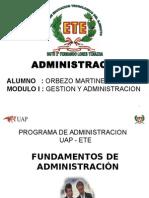 1- Fundamentos de Administracion
