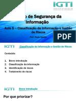 Aula 5 – Classificação da Informação e Gestão de Riscos.pdf