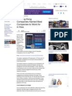 Yahoo! Finance - 20 Hong Kong Companies Named Best Companies to Work for in Asia - Yahoo Finance