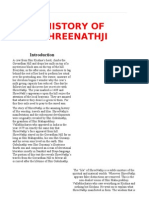 History of Shreenathji