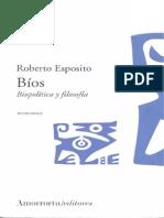 Bios. Biopolítica y Filosofía