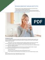 Jangan Remehkan Manfaat Minum Air Putih