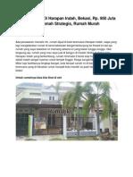 Rumah Dijual Di Harapan Indah, Bekasi, Rp. 900 Juta an, Rumah Strategis, Rumah Murah - www.rumahku.com