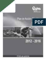 Plan de Acción Climático de Quito 2012-2016