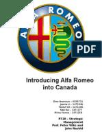 Introducing Alfa Romeo into Canada