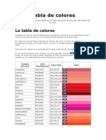 Tabla de Colores