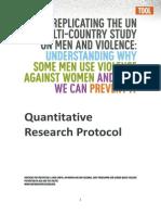 Quantitative Research Protocol Final 0
