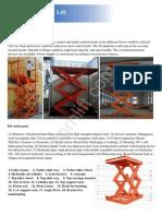 Morn-Catalog for Stationary Scissor Lift