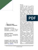 Gonzalez & Toledo, Apraxia Del Habla. RNNN Vol.15(1), 2015