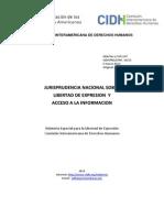 2013 05 20 Jurisprudencia Domestica Sobre Libertad de Expresion y Ai