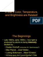 A Star's Color, Temperature, And Brightness (1)