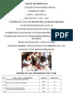 Proyecto de Club Manualidades Andres de Vera Bachi