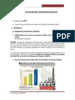 Reservas  de gas en Bolivia
