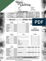 NWoD 2 Page  Character Sheet Editable