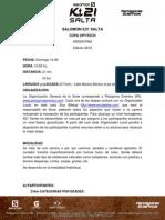 Reglamento K21 SALTA 2015