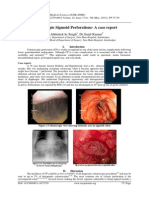 Colonoscopic Sigmoid Perforations- A case report