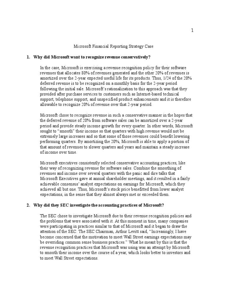 microsoft financial statements