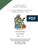 Karya Tulis Bahasa Indonesia