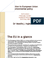 EU Legislation With Focus on Environment