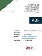 Rodolfo Del Aguila - Ensayo de Practicas Pre Profesionales