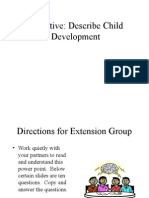 Factors That Influence Growth and Development With Extended Questions on Slides