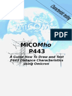 Guide to Draw and Test Micom P443 Using Omicron