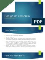 Código de Comercio y el comercio electronico