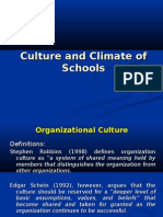 Culture and Climate Of