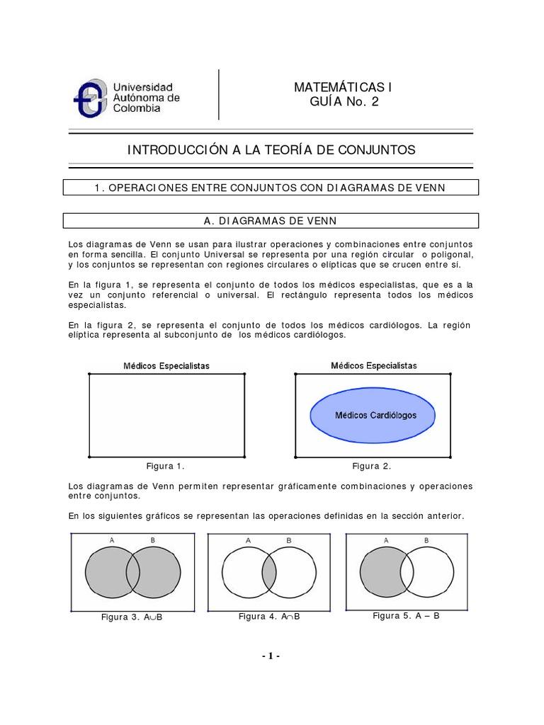 Operaciones y diagrama de venn ccuart Images